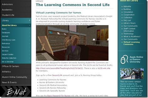 Virtual Learning Commons for Nurses