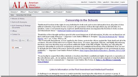 ALA - Censorship in the Schools_1253111576811