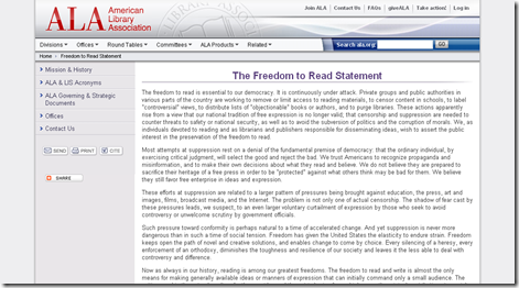 ALA - Freedom to Read Statement_1253111672985