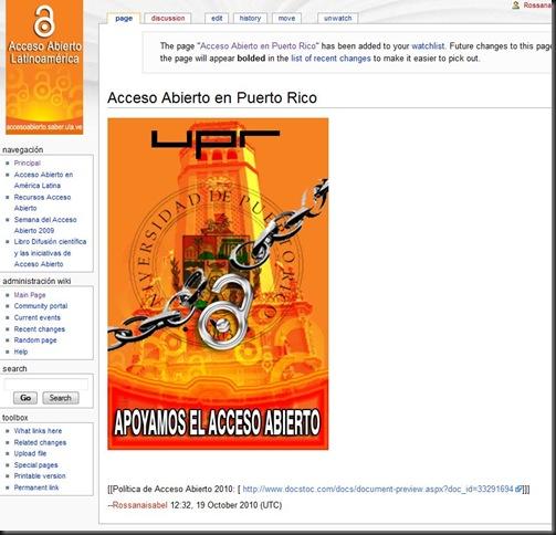 Acceso Abierto en Puerto Rico - Wikiopenaccess' - proyectos_saber_ula_ve_openaccesswiki_index_php_Acceso_Abierto_en_Puerto_Rico